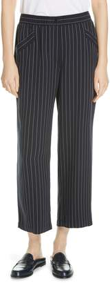 Eileen Fisher Pinstripe Crop Wide-Leg Pants