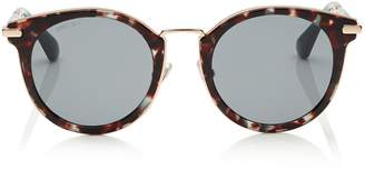 Jimmy Choo RAFFY Havana and Green Round Framed Sunglasses