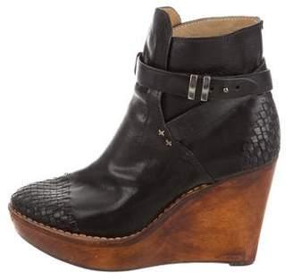 Rag & Bone Leather Wedge Booties