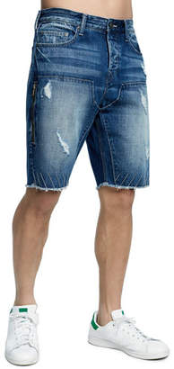 True Religion Men's Field Drop-Crotch Denim Shorts
