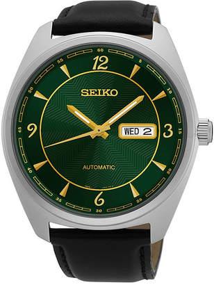 Seiko Mens Black Strap Watch