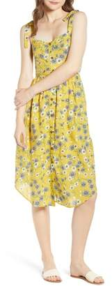 Moon River Floral Button Front Sundress