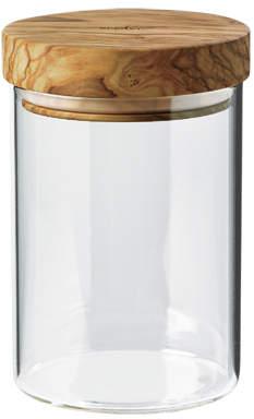 Bérard France Glass Jar with Olivewood Lid