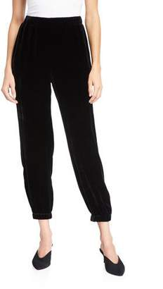Eileen Fisher Velvet Pull-On Ankle Pants w/ Elastic Cuffs
