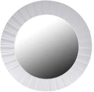 """Northlight 20"""" Simply Elegant White Fluted Frame Round Wall Mirror"""