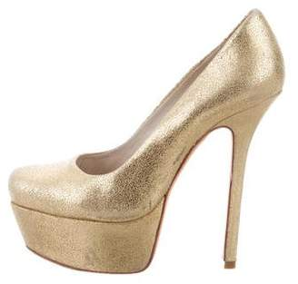 clearance for sale Alice + Olivia Metallic Leather Pumps sale eastbay discount cheap sale clearance XoDiH5