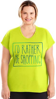 Just My Size Plus Size Graphic Dolman Tee