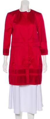 Burberry Pleated Knee-Length Coat