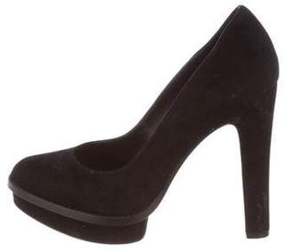Elizabeth and James Suede Round-Toe Pumps