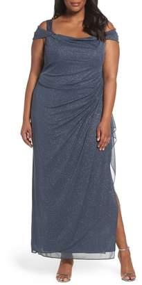 Alex Evenings Cold Shoulder Sheath Gown