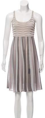 Iisli Knee-Length Metallic Patterned Dress