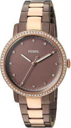 Fossil Women's 'Neely' Quartz Stainless Steel Casual Watch, Color:Brown (Model: ES4300)