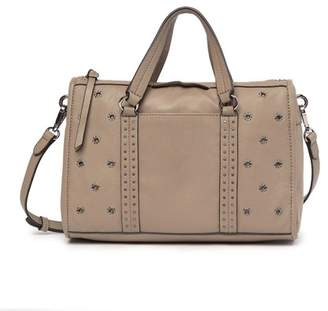 Vince Camuto Avie Small Grommet Leather Satchel