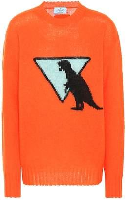 Prada Dinosaur intarsia wool sweater
