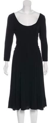 Armani Collezioni Ruched-Accented Midi Dress
