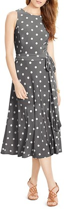 Lauren Ralph Lauren Polka Dot Print Dress $119 thestylecure.com