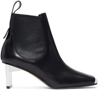 Loewe Black and White Blade Heel Boots