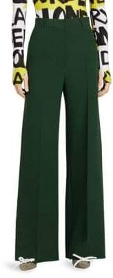 Burberry Stonewood Wide Leg Silk Pants