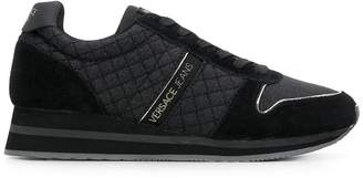 Versace quilted lace-up sneakers