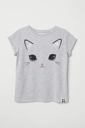 H&M Shirt with Printed Design - Gray
