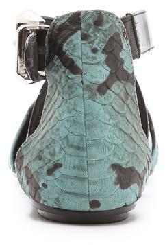 Messeca New York Jaxen Snake d'Orsay Flats