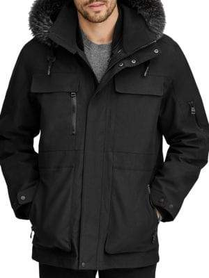 Andrew Marc Hamilton 3-In-1 Fox-Fur Trimmed Technical Jacket