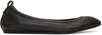 Lanvin Black Leather Classic Ballerina Flats $550 thestylecure.com
