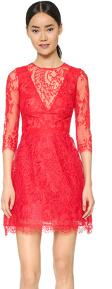 Monique Lhuillier Illusion Lace Dress with Full Skirt $3,495 thestylecure.com