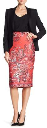 ECI Paisley Patterned Midi Skirt
