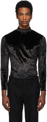 Maison Margiela Black Velvet Turtleneck