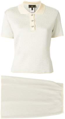 Fendi Pre-Owned Zucca jacquard skirt & blouse set