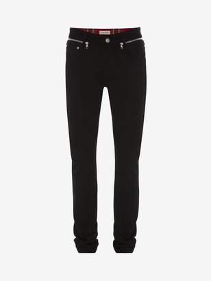 Alexander McQueen Zipper Detail Jeans