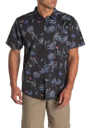 Globe Typhoon Patterned Short Sleeve Hawaiian Shirt