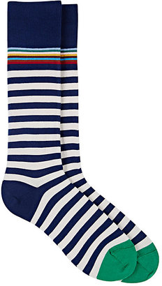 Paul Smith Men's Striped Mid-Calf Socks $30 thestylecure.com