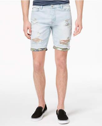 American Rag Men's Light Wash Camo Denim Shorts, Created for Macy's