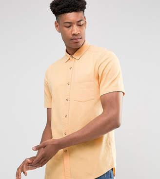 Asos DESIGN Tall regular fit textured shirt in orange