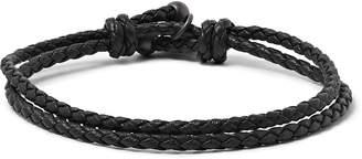 Bottega Veneta Intrecciato Leather Wrap Bracelet