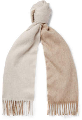 Co Begg & Arran Two-Tone Fringed Cashmere Scarf