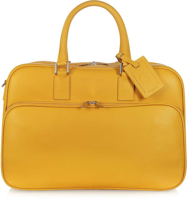 Giorgio Fedon 1919 Travel Yellow Leather Double Handle Carry-on