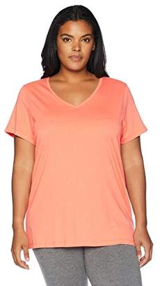 Hue Women's Plus Size Short Sleeve V-Neck Sleep Tee