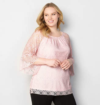 Avenue Lace Bell Sleeve Top