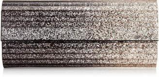 Jimmy Choo SWEETIE Silver and Navy Dégradé Glitter Acrylic Clutch Bag