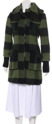 Alice + Olivia Plaid Short Coat