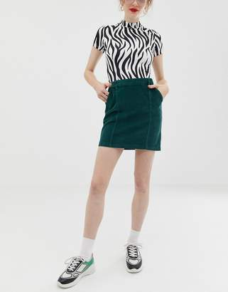 Noisy May corduroy skirt