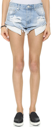 One Teaspoon Wilde Bandits Shorts $110 thestylecure.com