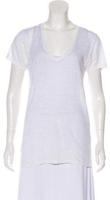 Etoile Isabel Marant V-Neck Sheer T-Shirt