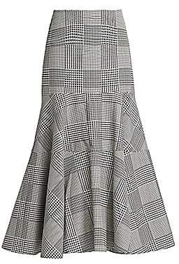 Silvia Tcherassi Women's Bellia Plaid Flare Skirt