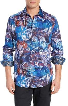 Robert Graham Mayar Tailored Fit Print Sport Shirt