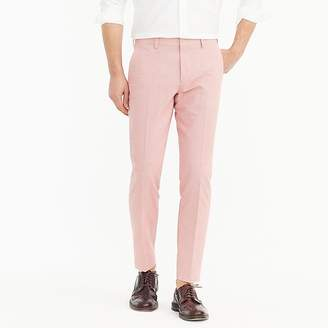 J.Crew Ludlow Slim-fit unstructured suit pant in houndstooth cotton-linen