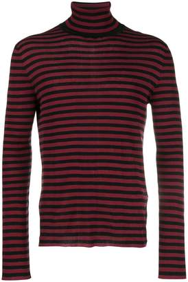 Saint Laurent striped turtle neck jumper